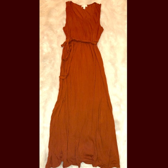 6962fd31d76 Forever 21 Dresses   Skirts - F21+ Rust Colored Maxi Dress w